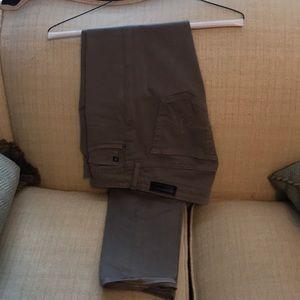 AG light grey stilt cigarette leg cotton soft jean